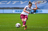 West Ham United Women defender Laura Vetterlein (26) passes the ball during the FA Women's Super League match between Manchester City Women and West Ham United Women at the Sport City Academy Stadium, Manchester, United Kingdom on 17 November 2019.