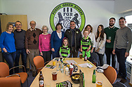 Vice Chairman David Drew celebrates his 65th Birthday with his family during the Vanarama National League match between Forest Green Rovers and Chester FC at the New Lawn, Forest Green, United Kingdom on 14 April 2017. Photo by Shane Healey.