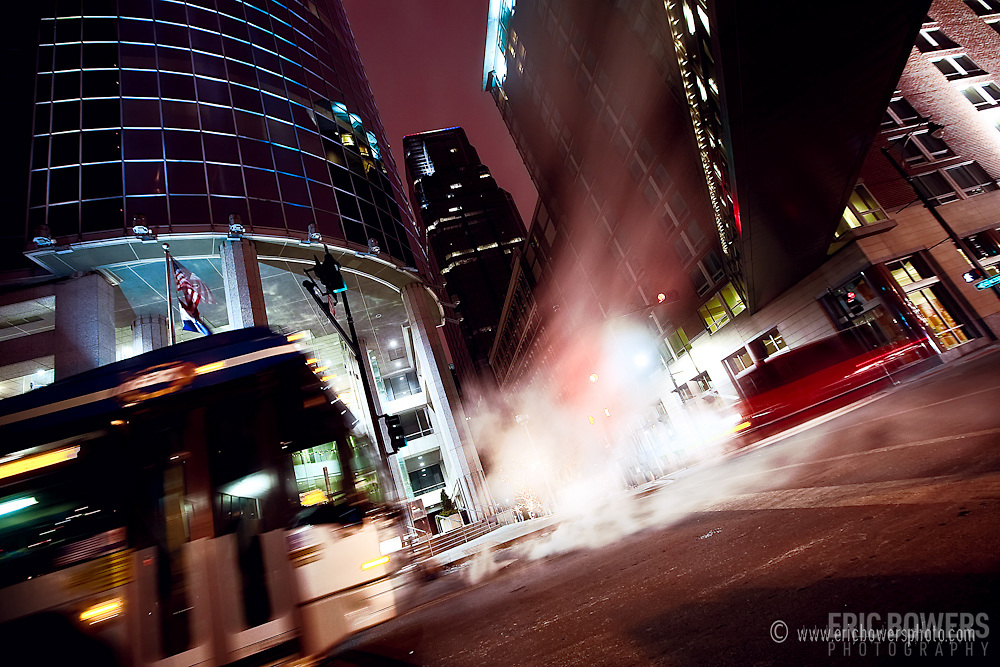 Bus Motion Blur with a Long Exposure Time