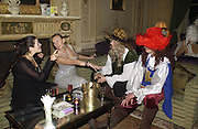 Marina Patrick, Andrea King,  Merlin Hanbury-Tenison and  Guy Myram. Philip Sallon and Bruce Fielding Joint birthday party. Home House. London. 12  November 2005 . ONE TIME USE ONLY - DO NOT ARCHIVE © Copyright Photograph by Dafydd Jones 66 Stockwell Park Rd. London SW9 0DA Tel 020 7733 0108 www.dafjones.com