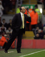 Photo: Paul Thomas.<br /> Liverpool v Middlesbrough. The Barclays Premiership. 18/04/2007.<br /> <br /> Rafael Benitez, manager of Liverpool.