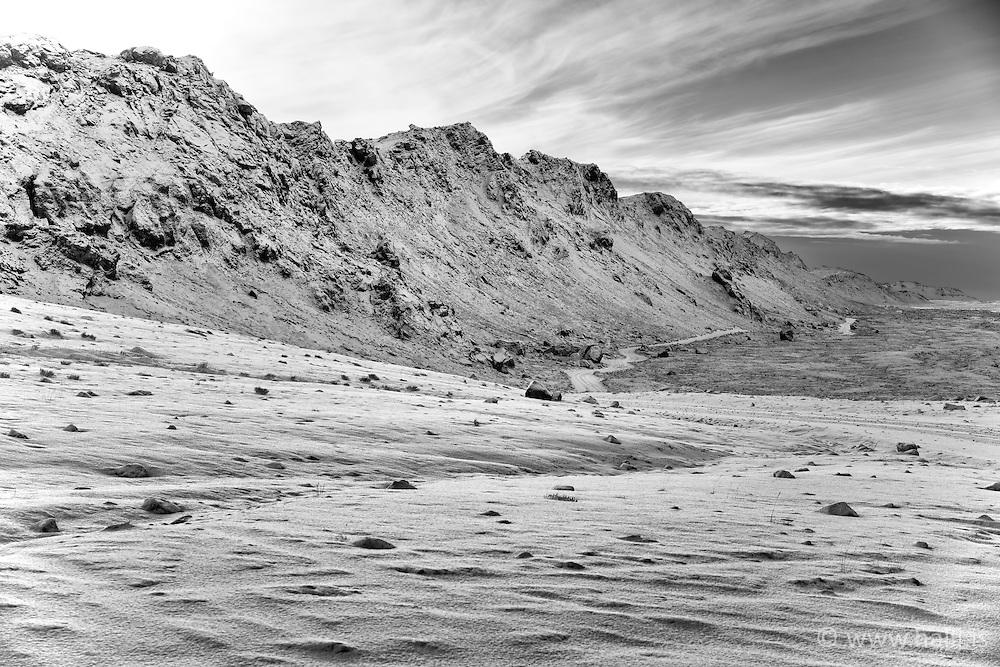 The mountain at Vigdisarvellir, south Iceland - Vigdísarvellir
