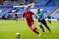 BIRKENHEAD, ENGLAND - Sunday, August 29, 2021: Liverpool's Melissa Lawley (L) and London City Lionesses Rianna Jarrett during the FA Women's Championship game between Liverpool FC Women and London City Lionesses FC at Prenton Park. London City won 1-0. (Pic by Paul Currie/Propaganda)