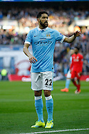 Gael Clichy of Manchester City asks for the ball. Capital One Cup Final, Liverpool v Manchester City at Wembley stadium in London, England on Sunday 28th Feb 2016. pic by Chris Stading, Andrew Orchard sports photography.