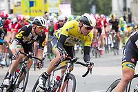 Sykkel<br /> Foto: imago/Digitalsport<br /> NORWAY ONLY<br /> <br /> Edvald BOASSON HAGEN ( NOR / MTN Qhubeka p/b Samsung ) im gelben Trikot des Gesamtfuehrenden der Grossbritannien Rundfahrt 2015 - Aktion - Rennszene - Querformat - quer - horizontal - Event / Veranstaltung: 12. Tour of Britain 2015 - Stage 8 / 8.Etappe: London nach London 86.8 km - Location / Ort: London - Great Britain - Grossbritannien - Europe - Europa - Date / Datum: 13.09.2015