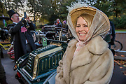 Geeting ready for the start in Hyde Park - The London to Brighton Veteran Car Run, which dates back to 1927, was founded to commemorate the Emancipation Run of 1896, which celebrated the new-found freedom of motorists granted by the 'repeal of the Red Flag Act.' The Act raised the speed limit to 14mph and abolished the need for a man carrying a red flag to walk ahead of the cars whenever they were being driven. It is the longest running motoring event in the world, this year has a French theme in honour of the country's contribution to motoring's early days. It is is organised by the Royal Automobile Club.