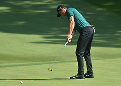 August 10, 2018 - St. Louis, Missouri, U.S. - ST. LOUIS, MO - AUGUST 10: Thomas Pieters putts on the #15 green during the second round of the PGA Championship on August 10, 2018, at Bellerive Country Club, St. Louis, MO.  (Photo by Keith Gillett/Icon Sportswire) (Credit Image: © Keith Gillett/Icon SMI via ZUMA Press)