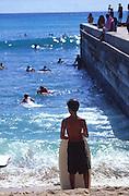 Boogieboarder, Waikiki, Oahu, Hawaii<br />