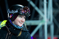 Amy Sheehan during Women's Ski Superpipe Practice at 2014 X Games Aspen at Buttermilk Mountain in Aspen, CO. ©Brett Wilhelm/ESPN