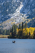 Fishermen on Silver Lake, fall, Inyo National Forest, California