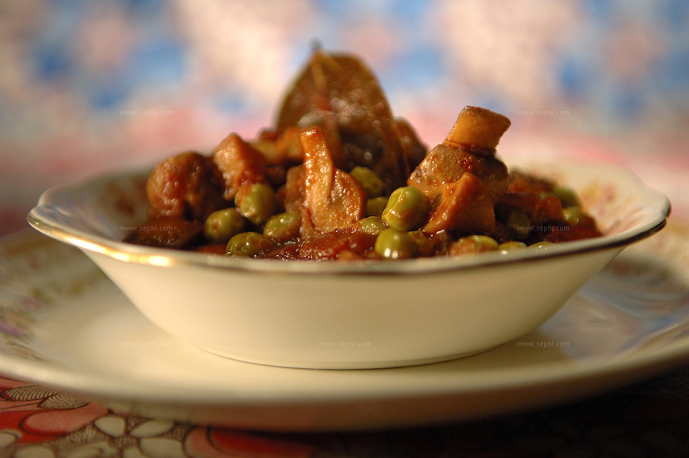 Kumbh matar masala - Mushroom and green peas ( Recipe available upon request )