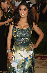 May 7, 2018 - New York City, New York, U.S. - Actress SALMA HAYEK attends the Costume Institute Benefit celebrating the opening of Heavenly Bodies: Fashion and the Catholic Imagination exhibit held at at The Metropolitan Museum of Art. (Credit Image: © Nancy Kaszerman via ZUMA Wire)