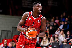 Daniel Edozie of Bristol Flyers - Photo mandatory by-line: Robbie Stephenson/JMP - 11/01/2019 - BASKETBALL - Leicester Sports Arena - Leicester, England - Leicester Riders v Bristol Flyers - British Basketball League Championship
