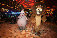 Launch of Royal Caribbean International's newest ship Allure of the Seas..Dreamworks characters in Central Park and on the Royal Promenade