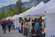 Outdoor market, Banf, Alberta, Canada