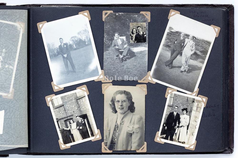 happy times photo album page 1940s England