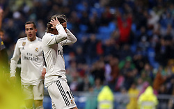 January 19, 2019 - Madrid, Madrid, Spain - Luka Modric (Real Madrid) seen reacting during the La Liga football match between Real Madrid and Sevilla FC at the Estadio Santiago Bernabéu in Madrid. (Credit Image: © Manu Reino/SOPA Images via ZUMA Wire)