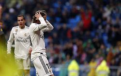 January 19, 2019 - Madrid, Madrid, Spain - Luka Modric (Real Madrid) seen reacting during the La Liga football match between Real Madrid and Sevilla FC at the Estadio Santiago Bernabéu in Madrid. (Credit Image: © Manu Reino/SOPA Images via ZUMA Wire)