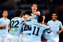 03.12.2010, Stadio Olimpico, Rom, ITA, Serie A, Lazio Rom vs Inter Mailand, im Bild .Giuseppe BIAVA celebrates scoring., EXPA Pictures © 2010, PhotoCredit: EXPA/ InsideFoto/ Andrea Staccioli         +++++ ATTENTION - FOR AUSTRIA/AUT, SLOVENIA/SLO, SERBIA/SRB an CROATIA/CRO CLIENT ONLY +++++