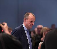 DEU, Deutschland, Germany, Leipzig, 22.11.2019: Friedrich Merz (CDU) nach seiner Rede beim Bundesparteitag der CDU in der Messe Leipzig.