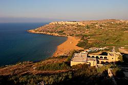 MALTA GOZO RAMLA 24JUL06 - General view of the golden sandy beach of Ramla on Gozo...jre/Photo by Jiri Rezac..© Jiri Rezac 2006..Contact: +44 (0) 7050 110 417.Mobile:  +44 (0) 7801 337 683.Office:  +44 (0) 20 8968 9635..Email:   jiri@jirirezac.com.Web:    www.jirirezac.com