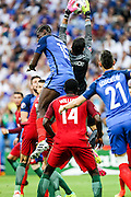Goalkeeper Rui Patricio from Portugal during the match against France. Portugal won the Euro Cup beating in the final home team France at Saint Denis stadium in Paris, after winning on extra-time by 1-0.