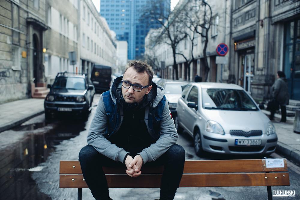 Warszawa, Polska<br /> Robert Ziębiński - pisarz, dziennikarz, były redaktor Naczelny Playboya.<br /> fot. Adam Tuchlinski