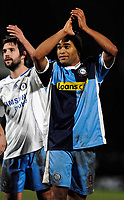 Photo: Richard Lane.<br />Wycombe Wanderers v Chelsea. Carling Cup, Semi Final 1st Leg. 10/01/2007. <br />Wycombe's Jermaine Easter applauds the fans.