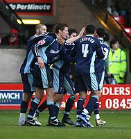 Photo:Mark Stephenson,Walsall fc v Swindon Town.<br />Coca Cola league 2,9-12-2006<br />Swindon celeberate there first half goal.