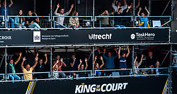 Support during the third day of the beach volleyball event King of the Court at Jaarbeursplein on September 11, 2020 in Utrecht.