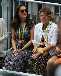 March 23, 2019 - Miami Gardens, Florida, United States Of America - MIAMI GARDENS, FLORIDA - MARCH 23:  Natasha Ziff, Mirka Federer day 6 of the Miami Open Presented by Itau at Hard Rock Stadium on Saturday on March 23, 2019 in Miami Gardens, Florida..People: Natasha Ziff, Mirka Federer. (Credit Image: © SMG via ZUMA Wire)