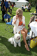 SALLY FARMILLOE WITH PASHA,  Sixth Macmillan Dog Day for Macmillan Cancer Support, Supported by Savills. Royal Hospital Chelsea, London, SW3. 3 July 2007. -DO NOT ARCHIVE-© Copyright Photograph by Dafydd Jones. 248 Clapham Rd. London SW9 0PZ. Tel 0207 820 0771. www.dafjones.com.