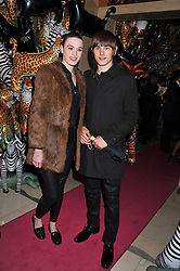 LUKE WORRALL and CHARLOTTE PALLISTER at the Mulberry Spring/Summer 2012 - London Fashion Week afterparty held at Claridge's, Brook Street, London on 18th September 2011.