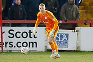 Accrington Stanley goalkeeper Connor Ripley (30)  during the The FA Cup 3rd round match between Accrington Stanley and Ipswich Town at the Fraser Eagle Stadium, Accrington, England on 5 January 2019.