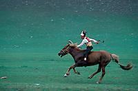 Mongolia, province de Arkhangai, course de chevaux pour la fete du Naadam // Mongolia, Arkhangai province, horse race at the Naadam festival