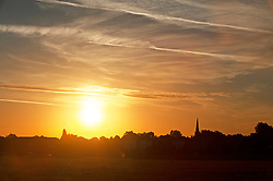 ©Licensed to London News Pictures 30/07/2020     Blackheath, UK. Another hot weather day is expected today in the UK as a bright warm sunrise comes up over Blackheath Common this morning in London.  Photo credit: Grant Falvey/LNP