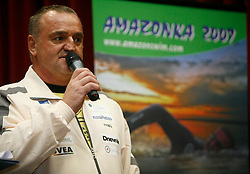 Martin Strel at press conference before departure to South America - Peru, where he wants to set a world record by swimming 5268 Kms (3274 Miles) down the Amazon river, on January 23, 2007 in BTC, Ljubljana, Slovenia. (Photo by Vid Ponikvar / Sportida)