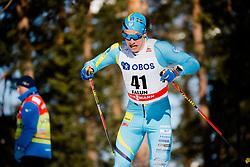 March 16, 2018 - Falun, SVERIGE - 180316 Anton Persson, Sverige tÅvlar i sprintprologen under Svenska Skidspelen den 16 mars 2018 i Falun  (Credit Image: © Simon HastegRd/Bildbyran via ZUMA Press)