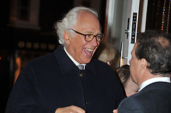 SIR EVELYN DE ROTHSCHILD at the Linley Christmas Party held at Linley, 60 Pimlico Road, London on 16th November 2011.