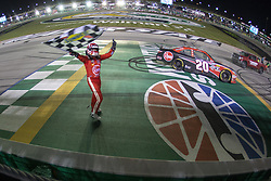 July 13, 2018 - Sparta, Kentucky, United States of America - Christopher Bell (20) wins the Alsco 300 at Kentucky Speedway in Sparta, Kentucky. (Credit Image: © Stephen A. Arce/ASP via ZUMA Wire)