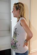 Nicolette Kluijver ( zwanger ) in het Amstel Hotel Amsterdam
