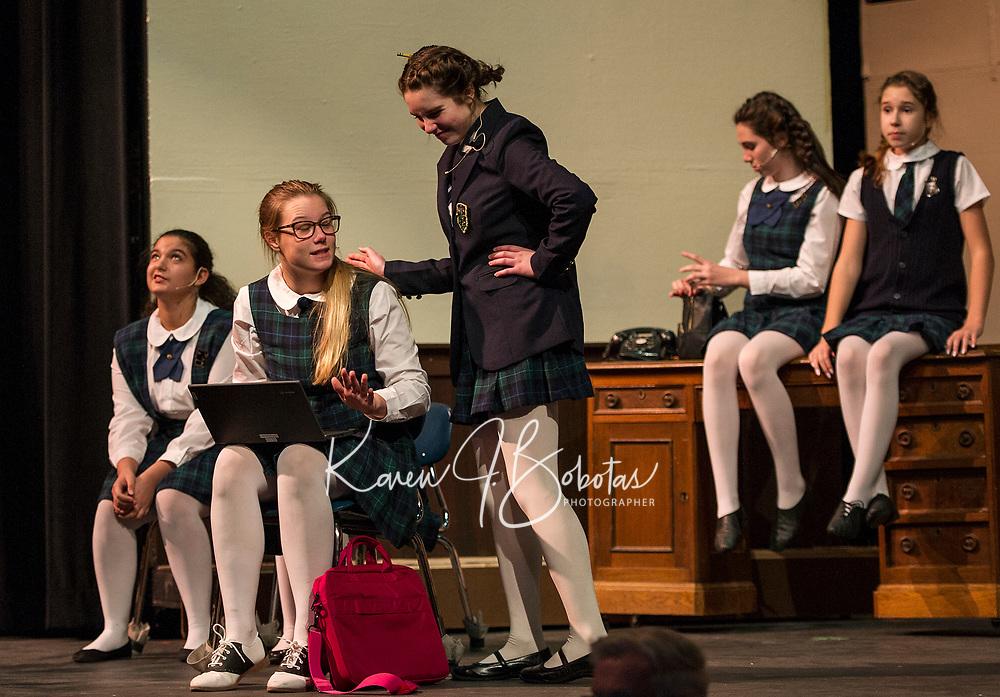 School of Rock dress rehearsal at Gilford High School.  Karen Bobotas for the Laconia Daily Sun