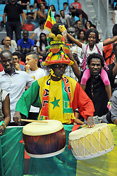 September 15, 2017 - Tunis, Tunisia - Supporters of Senegal  during the semi-final of FIBA AfroBasket 2017....Afrobasket 2017: Semifinal: Senegal eliminated by Nigeria who find Tunisia in the final  (Credit Image: © Chokri Mahjoub via ZUMA Wire)