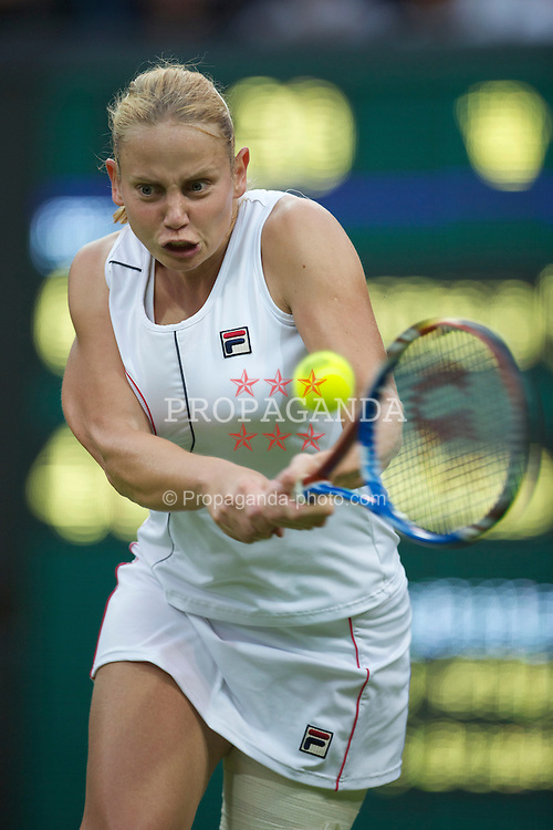 LONDON, ENGLAND - Monday, June 20, 2011: Jelena Dokic (AUS) in action during the Ladies' Singles 1st Round match on day one of the Wimbledon Lawn Tennis Championships at the All England Lawn Tennis and Croquet Club. (Pic by David Rawcliffe/Propaganda)