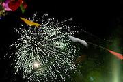 Belo Horizonte_MG, Brasil...Fogos de artificio em uma festa junina...The fireworks in the june party...Foto: VICTOR SCHWANER /  NITRO
