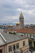 The clock tower at Piazza Square Batumi, Adjara, Georgia.
