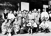 portrait of Japanese sightseeing group 1950 - 60