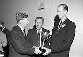 1967 - Handing over Irish Mist Trophy to Federation of Irish Beekeepers at Gormanstown College
