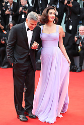 Suburbicon Premier at the Venice film festival. 02 Sep 2017 Pictured: George Clooney and Amal Clooney. Photo credit: GOL/Capital Pictures / MEGA TheMegaAgency.com +1 888 505 6342