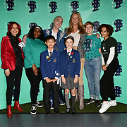 Carrie Grant, Jamie Campbell Bower,Penny Lancaster and Talia Grant attend The Diana Award anti-bullying week at Alexandra Palace on 12 November 2018, London, UK.